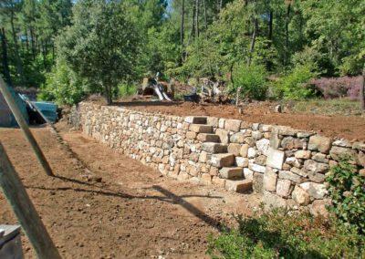 Daniel Leiritz Paysagiste - Réfection d'un mur en pierres sèches